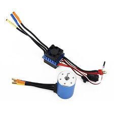 3650 3600KV Sensorless Brushless Motor +60A ESC + BEC For 1:10 RC Car Parts