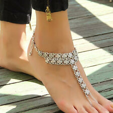 New Fashion Silver Anklet Chain Ankle Bracelet Foot Jewelry Barefoot Sandal Gift