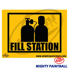 Paintball Safety Sign - Fill Station (Mp-Fe-S006)