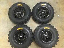 SET 4 YAMAHA RAPTOR 250 WARRIOR BLACK ITP SS112 Rims & AMBUSH Tires Wheels kit