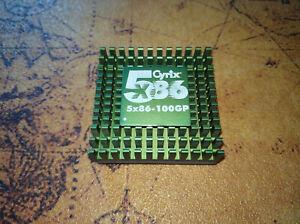 * Cyrix 5x86-100GP (M1sc), Sockel 3, eine der schnellsten CPUs der 486er-Ära *