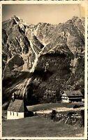 Burgstein bei Längenfeld Tirol alte Ansichtskarte ~1940 Kapelle Haus Bergmassiv
