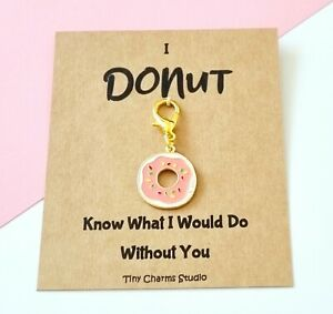 Pink Donut Charm Planner Charm Stitch Marker Gift For Her/him Valentines Gift