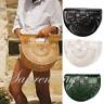 Bamboo Women Handbag Hollow Weave Handmade Basket Semicircle Moon Bag Tote Purse