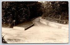 Ludington MI Cement Walkway Up To Epworth Heights~Guardrail, Too RPPC 1932