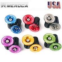 MEROCA M4 Screw AL End Plugs Expansion Lockout Caps MTB Bike Bicycle Part Pair