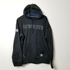 Nike Therma-Fit Dallas Cowboys Mens Hoodie Sweatshirt Small S Black Gray Small S