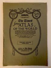 Map World Europe 1920 Times Survey Atlas Plates 10, 11 & 12 Bartholomew Pt 37