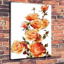 """ORANGE Roses"" Scatola stampata foto su tela A1.30""x20""30mm Deep Wall Art Lounge"