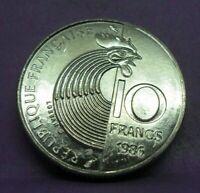 10 francs Robert Schuman 1986 - SPL - pièce de monnaie française - N14257