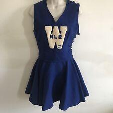 XS S Vtg Cheer Uniform Skirt Blue White Varsity Letterman Patch WHS NLR Costume