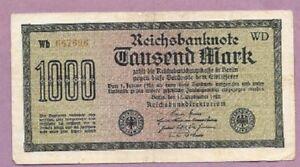 1922 1000 MARK GERMANY REICHSBANKNOTE