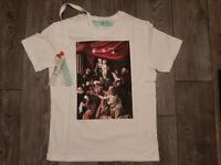 Off White T-shirt Caravaggio Painting size  M XL  Fashionable