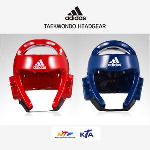Adidas Taekwondo Sparring Head Guard Headgear Blue Red  WTF KTA Approved New