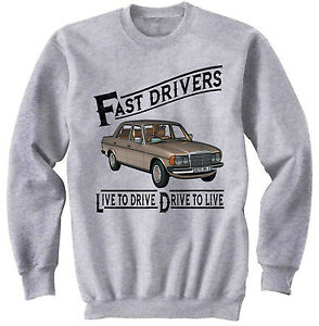 MERCEDES M123 LIVE TO DRIVE - NEW COTTON GREY SWEATSHIRT ALL SIZES