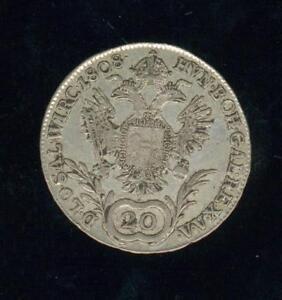 Austria, 20 Kreuzer, François The1st 1808, Vienne Silver