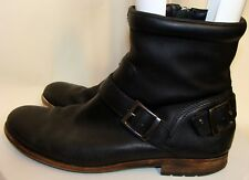 ROCKPORT MENS BLACK LEATHER ANKLE BOOTS SIZE 10M  C132