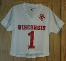 Wisconsin Badgers White V-neck Champion Jersey Size S