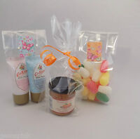 """50 x Clear Cello sweet Gift, Party, Display Bags with gusset 2.75"""" x 1.25"""" x 7"""""""