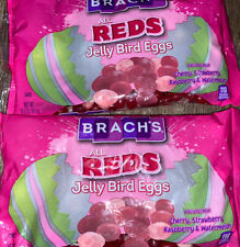 Brach's ~ All Reds Jelly Beans Bird Eggs Easter 2-Bags 14 oz. ~ Expires 03/2022