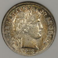 1912 Barber Dime ANACS AU-53 Old Small Holder