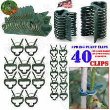 More details for 40pcs plant clips spring clip ties clamps shrub support garden tie greenhouse uk