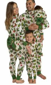Family mens ladies kids baby all in one pyjama loungewear reindeer RRP £40