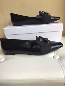 Boden Loafers Uk 7 Eu 40 Jewelled -black Smart Flats Excellent Condition