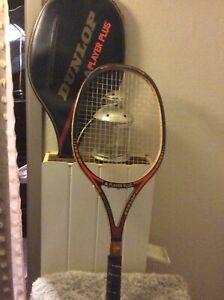 raquette de tennis Dunlop vintage En Bois Graphite Avec Housse