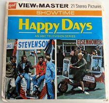 Vintage  Viewmaster  GAF Set TV Show Happy Days B 586 Ron Howard Fonze Winkler