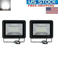 2Pack LED Flood Lights 50W Floodlights Outdoor Garden Security Lamp Cool White