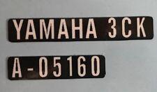 Calcomanías de advertencia de precaución Pantalla Yamaha TDR250 X 2
