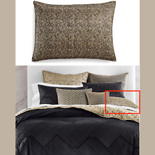 NIB Hotel Collection Linear Chevron Quilted (1) Standard Pillow Sham Black #77