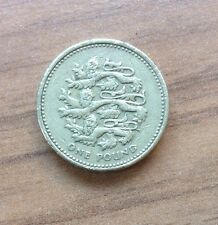 THREE LIONS £1 ROUND ONE POUND COIN - PASSANT GUARDANT REPRESENTING ENGLAND 1997