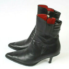 Tommy Hilfiger Black Leather Stiletto Ankle Boots Women Size UK 3 Reduced