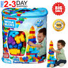 Building Block Set 80 Piece Mega Big Bag Classic Large Size Kids Blocks Toddler