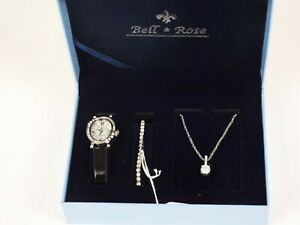 Bell & Rose - Watch , Bracelet & Necklace - Jewellery Set