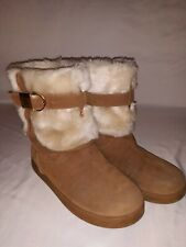 G by Guess Women's Aussie Closed-Toe Cold Weather Lined Ankle Boots, Tan, 8 m