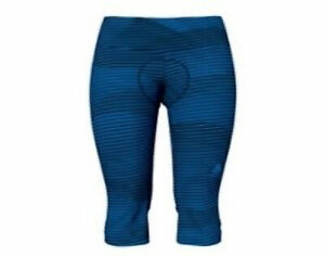 Odlo Ladies Bike Cycling 3/4 Tights Zeroweight Print Blue 20696 SIZE S New