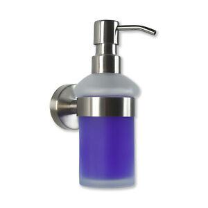 Seifenspender Wandmontage aus Edelstahl Pumpflasche aus Glas - Bad Badezimmer WC