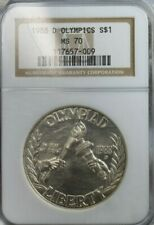 1988-D Olympics Silver Dollar $1 NGC SILVER MS70 Coin