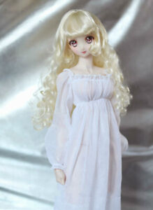 1/4 1/3 BJD Outfit Clothes Retro Roman Goddess Dress White Chiffon Nightgown