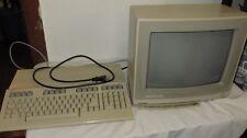 VINTAGE COMMODORE 128 PERSONAL COMPUTER & COMMODORE 1902 VIDEO MONITOR