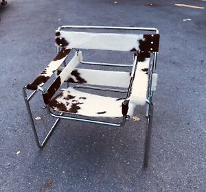 Marcel Breuer Poltrona Wassily Cow Leather