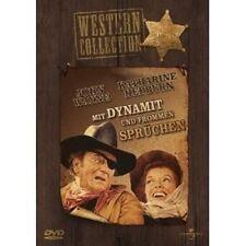 MIT DYNAMIT UND FROMMEN SPRUECHEN -  DVD NEU JOHN WAYNE,KATHARINE HEPBURN,ANTHON