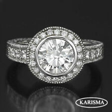 Round White Gold VS1 18k Diamond Engagement Rings