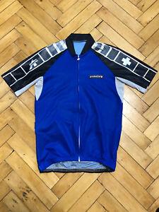 ASSOS Men's Cycling Jersey Full Zip Blue Size M