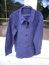 VESTE GILET BLEU vintage campagne old jacket chore