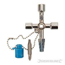 Multi Use Utility Key Plumbing Radiator Bleed Gas Electric Meter Stop Cock Tap