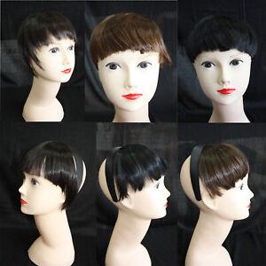 Womens Short Black Blonde Bob Blunt Fringes Wigs Hair Party High Quality Fashion